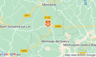 Map Penne d'Agenais Self-catering property 12564