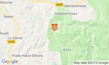 Map Val d'Allos Studio apartment 3203