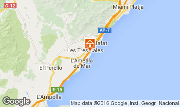 Map La Ametlla de Mar Villa 103289