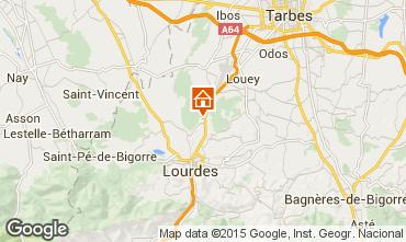 Map Lourdes Studio apartment 14408
