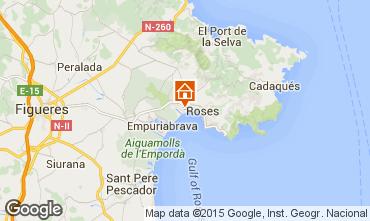Map Rosas Apartment 94318