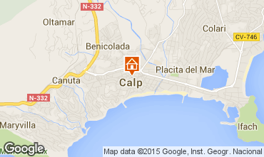 Map Calpe Apartment 101798