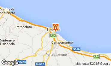 Map Termoli Studio apartment 75599