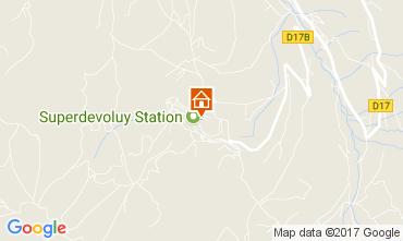 Map Superdévoluy- La Joue du Loup Apartment 112234