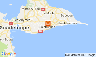 Map Sainte Anne (Guadeloupe) Apartment 86596