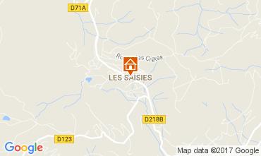 Map Les Saisies Apartment 2719
