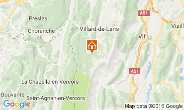 Map Villard de Lans - Corrençon en Vercors Apartment 3643