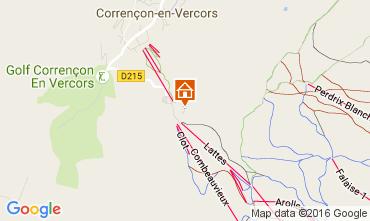 Map Villard de Lans - Corrençon en Vercors Apartment 3643