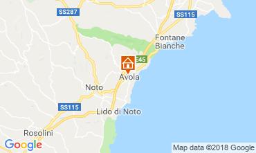 Map Avola Apartment 117202