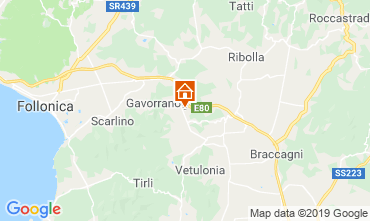 Map Gavorrano Self-catering property 80832