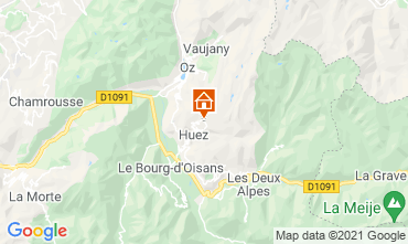 Map Alpe d'Huez Studio apartment 80613