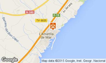 Map La Ametlla de Mar Apartment 64059