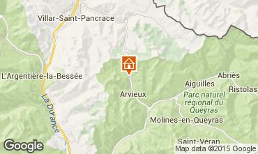 Map Arvieux en Queyras Apartment 538