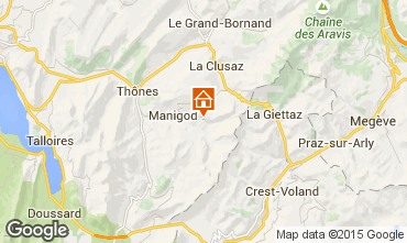 Map Manigod-Croix Fry/L'étale-Merdassier Studio apartment 1571