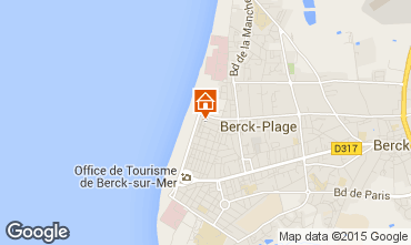 Map Berck-Plage Apartment 8889