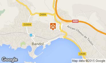 Map Bandol Studio apartment 32628