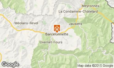 Map Barcelonnette Studio apartment 90072