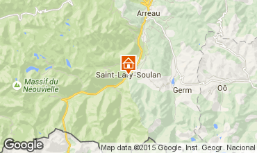 Map Saint Lary Soulan Apartment 4439