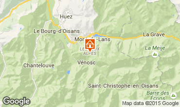 Map Les 2 Alpes Apartment 1134