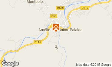 Map Amélie-Les-Bains Studio apartment 14395