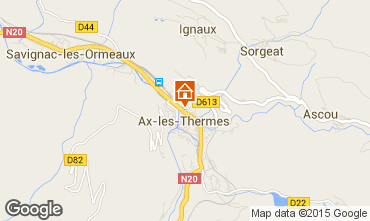 Map Ax Les Thermes Apartment 66392