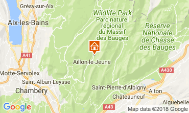 Map Les Aillons Self-catering property 115914