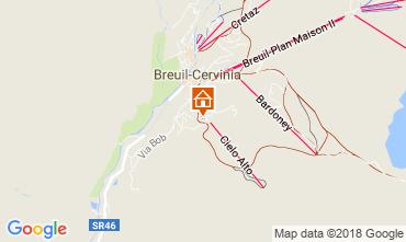 Map Cervinia (Breuil) Studio apartment 54302
