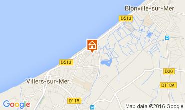 Map Villers sur Mer Apartment 74292