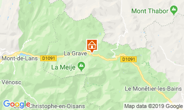 Map La Grave - La Meije Apartment 32294