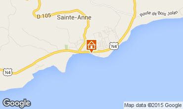 Map Sainte Anne (Guadeloupe) Apartment 73786