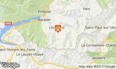 Map Les Orres Studio apartment 14569