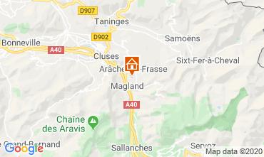 Map Les Carroz d'Araches Studio apartment 60427