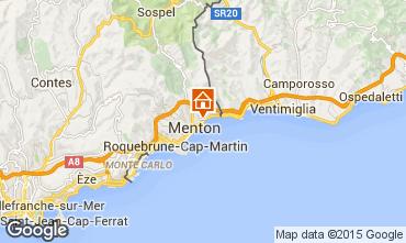 Map Menton Studio apartment 75534