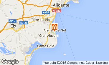 Map Alicante Apartment 75868