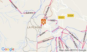 Map La Plagne Studio apartment 106797