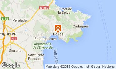 Map Rosas Studio apartment 80455
