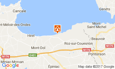Map Cherrueix Self-catering property 92472
