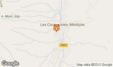 Map Les Contamines Montjoie Apartment 58591