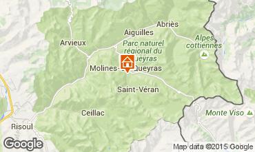 Map Molines Saint-Véran Studio apartment 1577
