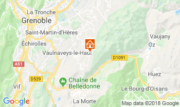 Map Chamrousse Studio apartment 28359