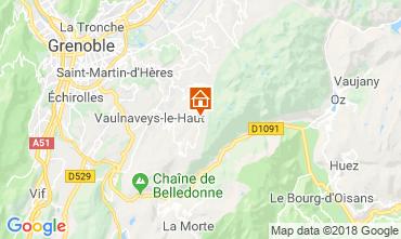 Map Chamrousse Studio apartment 28359