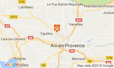 Map Aix en Provence Apartment 115648