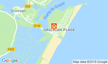 Map Gruissan-Plage Apartment 79185
