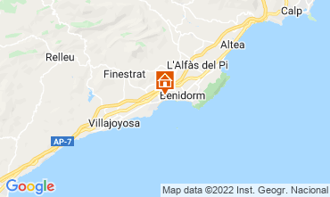 Map Alicante Apartment 114188