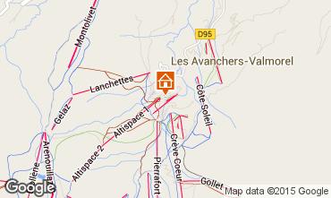 Map Valmorel Apartment 3461