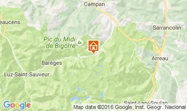 Map La Mongie Apartment 106843