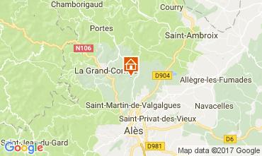 Map Alès Villa 112619
