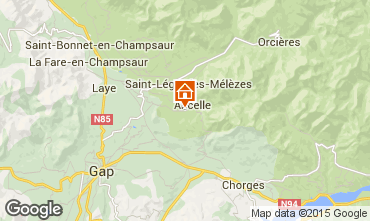 Map Ancelle Self-catering property 78718