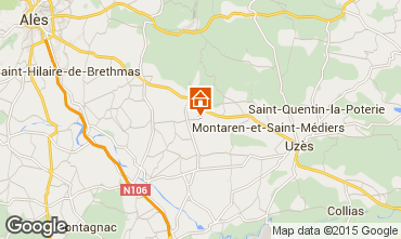 Map Uzès Villa 90423