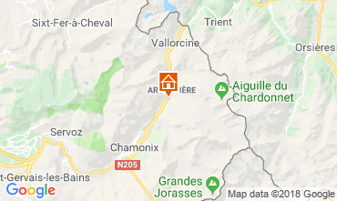 Map Chamonix Mont-Blanc Apartment 116295